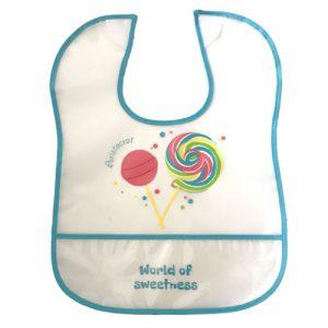 סינר חולצה גמיש לילדים, אטום לנוזלים וכביס במכונת כביסה ביתית. עם סגירת סקוטש'.