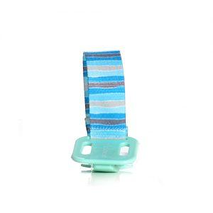 מחזיק מוצץ אניס חדשני עם קליפס פלסטיק ומקום לכתיבת שם הילד. מתאים לרוב סוגי המוצצים