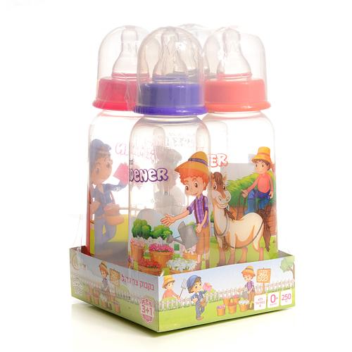 """בקבוק צר גדול לתינוק 250 מ""""ל 3+1 מתנה"""