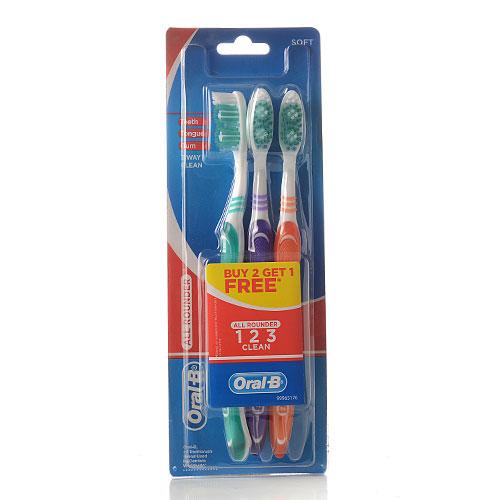 מברשת שיניים אורל בי (oral B), שלישיה